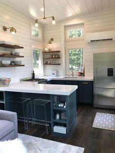 Home Interior Design .Home Interior Design Kitchen Design Small, Kitchen Decor, House Design Kitchen, Studio Kitchen, Home Kitchens, Tiny House Kitchen, Kitchen Layout, Home Design Plans, Minimalist Kitchen