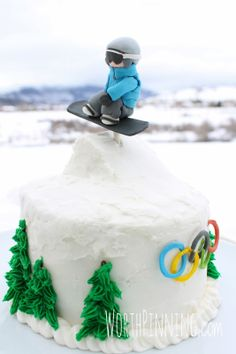 Worth Pinning: Snowboarder Jump Cake