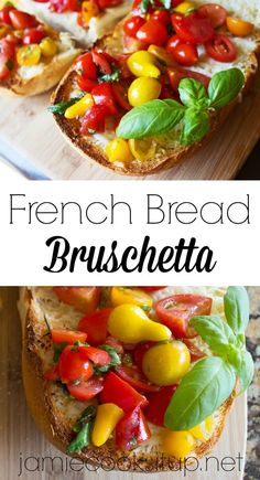 French Bread Bruschetta from Jamie Cooks It Up!!