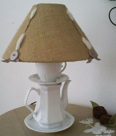 Tea Cup Lamp by TrouveCreations1 on Etsy, $45.00