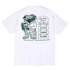 Collaboration with New York City's Labor Skate Shop. - 6oz cotton t-shirt - Screen print on front and back