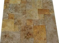 walmart: emser tile natural stone 12'' x 12'' travertine pinwheel