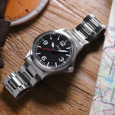 The elegantly sporty watch. Sinn Watch, Sporty Watch, Mocha Color, Marine Blue, Watches, Mens Clothing Styles, Canvas Leather, Link Bracelets, Wealth