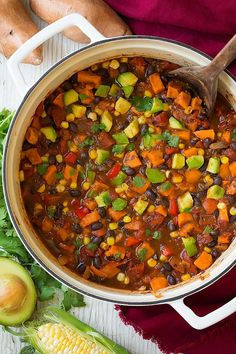 Roasted Sweet Potato and Black Bean Chili | Cooking Classy