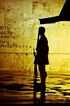 Evzone Silhouette, Tomb of the Unknown Soldier, Athens Syntagma