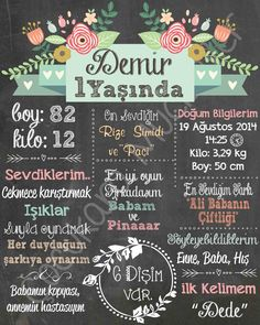 Our panel that we have prepared for Demir& 1 year party.- Demir'in 1 yaş partisine özel hazırladığımız panomuz. Our panel that we have prepared for Demir& 1 year party. Masquerade Party Decorations, Pink Party Decorations, Spelling Games For Kids, Holiday Logo, Making Words, Chalk Pens, Happy B Day, Logo Sticker, Chalkboard Art
