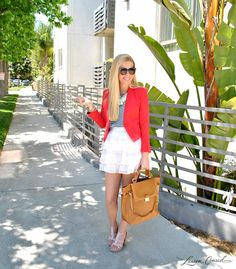 cute red white  blue outfit #style