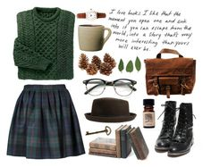 """""""All the Trees"""" by throwmeadream ❤ liked on Polyvore featuring Olympia Le-Tan, VIPARO, Lovely Bird, Limit, Toast, vintage, plaid and books"""