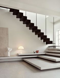 Home Stairs Design, Interior Staircase, Staircase Railings, Railing Design, Home Interior Design, Interior Architecture, House Design, Modern Stairs Design, Stair Design