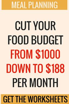 "Money saving worksheets and printable. Saving on a food budget. Maybe you had to cut costs immediately and so you're having to eat way more ""junk"" type, pre-made foods than you really want to, but you feel stuck! Learn how to eat better for less without giving up brands and quality. #savingmoney #frugal #finance #mealprep #ads"