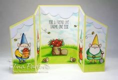 Birdie Brown You Gnome Me stamp set and Die-namics - Tina Pavlovic #mftstamps