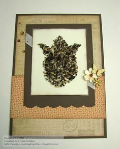 sprouting card by Krista Ritskes using CTMH Buzz and Bumble paper..... actual seeds make up the flower for the recipient to plant!.... TUTORIAL in her post.