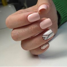What Christmas manicure to choose for a festive mood - My Nails Easy Nails, Simple Nails, Cute Nails, Perfect Nails, Gorgeous Nails, Stylish Nails, Trendy Nails, Pink Nails, Gel Nails
