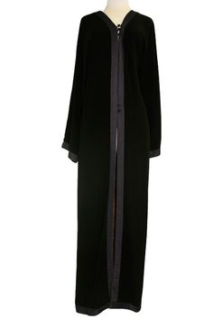 Black Abaya Open in Front