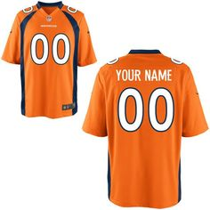Denver Broncos Nike Youth Custom Game Jersey - Orange - $109.99