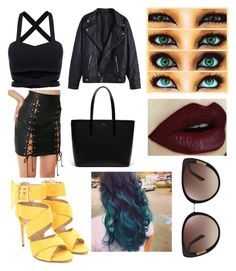"""""""Alyssa M. S"""" by palyser ❤ liked on Polyvore featuring Poster Grl, Lacoste and Oscar de la Renta"""