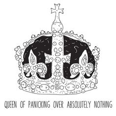 I love find illustrations on my phone that I had completely forgotten that I had made!  _______________________________ #illustration #art #drawing #sketch #crown #queen #royal #panic #panicking #anxiety #blackandwhite #monochrome #lineart #detail #create #creative #design #fineliner #pen #ink #type #text #handmade #femaleillustrator #illustrator #draw