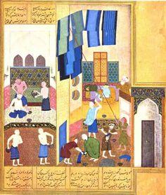 Kamal al-Din Behzad, The Caliph Harun al Rashid visits the Turkish Bath, from copy of 12th century Khamsa of Nizami, Herat, Afghanistan 1494 Working in the Timurid court of Husayun, this work represents Behzad's early artistic style, the remarkable...