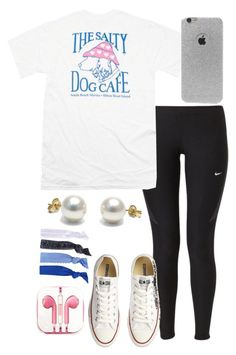 """Ootd// my sister is mad cause I wore the converse"" by madelyn-abigail ❤ liked on Polyvore featuring NIKE, Converse, LA: Hearts, Glam Bands, PhunkeeTree, women's clothing, women's fashion, women, female and woman"
