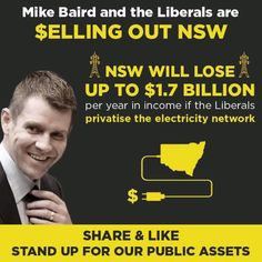 Who sells an asset worth $1.7B a year? The Liberals of course, in order to make their rich mates even richer! #NSWpol