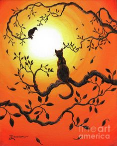 Halloween Sunset Greeting Card