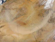 Dust storm in the Sahara Desert