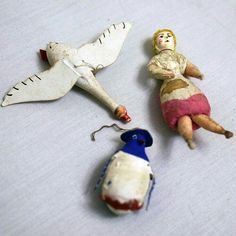 Antique Christmas ornaments made in Russia