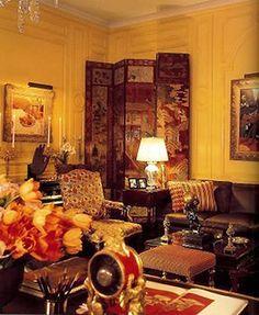 Babe Paley's living room designed by Sister Parish & Albert Hadley.