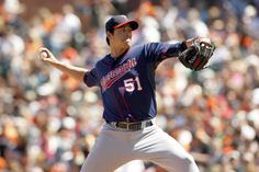 May 25, 2014; San Francisco, CA, USA; Minnesota Twins pitcher Anthony Swarzak (51) prepares to deliver a pitch against the San Francisco Giants in the seventh inning at AT&T Park. The Giants defeated the Twins 8-1. Mandatory Credit: Cary Edmondson-USA TODAY Sports