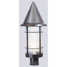 "Arroyo Craftsman Valencia Outdoor 1-Light Lantern Head Size: 19.25"" H x 9.25"" W, Finish: Bronze, Shade Type: White Opalescent"