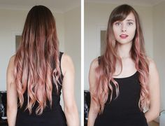 I wish my hair was long enough to do this. Pastel pink ombre