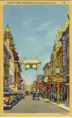 Chinatown Street Scene - San Francisco, CA - 1930's