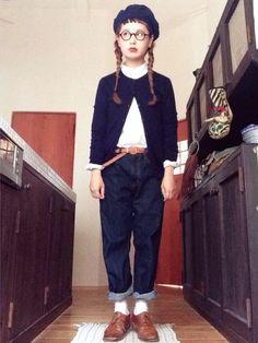 よちさんのカーディガン「UNIQLO 」を使ったコーディネート Mori Fashion, Fashion Pants, Womens Fashion, Forest Girl, Clothes Pictures, Mori Girl, Girls Pants, Beret, Daily Fashion