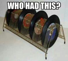 Record rack for LP's. My Childhood Memories, Great Memories, Childhood Toys, School Memories, Musica Salsa, Vintage Toys, Retro Vintage, Vintage Stuff, Vintage Music