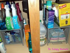 Homemaker's Challenge - Kitchen Reorganization - Christina, Plain and Simple Kitchen Sink Organization, Organization Hacks, Organizing Tips, Home Design Decor, House Design, Housewife, Getting Organized, Homemaking, Helpful Hints