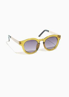& Other Stories Round Sunglasses in Yellow