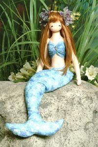 Mimin Dolls: beautiful mermaid doll pattern