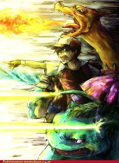 Epic art for pokemon Pokemon Trainer Red, Mega Pokemon, First Pokemon, Pokemon Red, Pokemon Ships, Pokemon Fan Art, Cool Pokemon, Fanart Pokemon, Pokemon Pocket