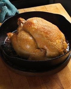 There are three finesse points to a perfect roasted chicken. Though infinite variables make one roasted chicken different from another (the quality of the chicken, the seasonings used, how long you cook the bird), three main goals are essential if you want to wind up with a perfect roasted chicken. They concern seasoning, oven temperature, and — the most talked about issue but rarely addressed practically — the maintenance of a juicy breast and fully cooked thighs.