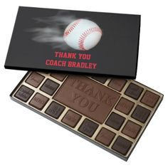 Pitch The Ball Baseball Team Box of Chocolates - kitchen gifts diy ideas decor special unique individual customized