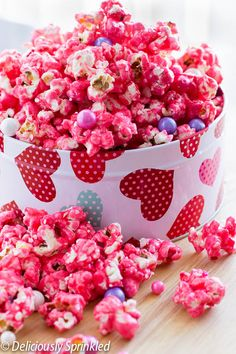 Pink Candy Popcorn - Join us this Valentine's Day for our Indulgence Charity Event | Petruzzello's of Troy | 8pm | www.IndulgenceEvent.com