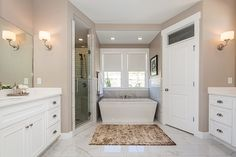Our 2015 Parade of Homes home at our Canyon Hills community. Check out the customization we can offer to your home. Stand Alone Tub, Parade Of Homes, Walk In Shower, Master Bathroom, Building A House, Bathrooms, Sweet Home, New Homes, Studio