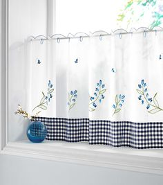 BLUEBELL READY MADE CAFE CURTAIN
