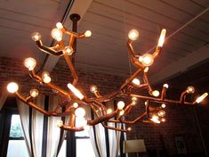 Sprout Copper Pipe Chandelier by musiqueimpossible on Etsy, $750.00