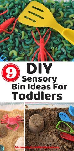 Sensory bins, Toddler sensory bin, toddler activities, toddler play, summer activities, summer vacation.
