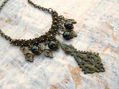 Bohemian necklace  Bohemian Jewelry   Patina by Gypsymoondesigns, $32.00
