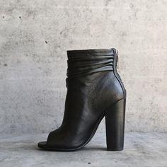 chinese laundry x kristin cavallari - liam open toe slouchy bootie - black leather - shophearts - 1
