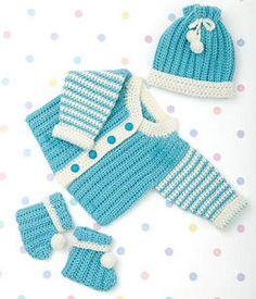 Newborn Layette :: Free Crochet Cardigan Patterns for Baby Boys! Roundup on Moogly