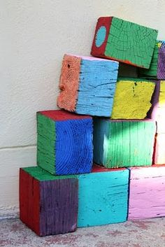 DIY: giant wooden blocks