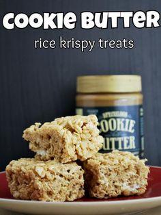 Cookie Butter Rice Krispies Treats #dessert #recipes